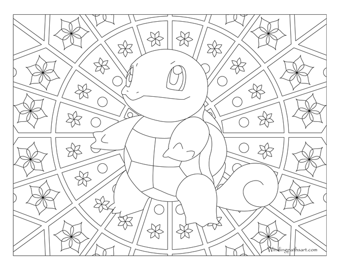Adult Pokemon Coloring Page Squirtle | Pokemon | Pinterest ...