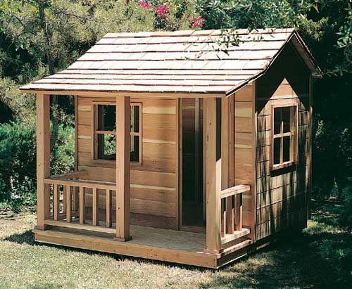 Child 39 s playhouse backyard ideas pinterest for Backyard clubhouse plans