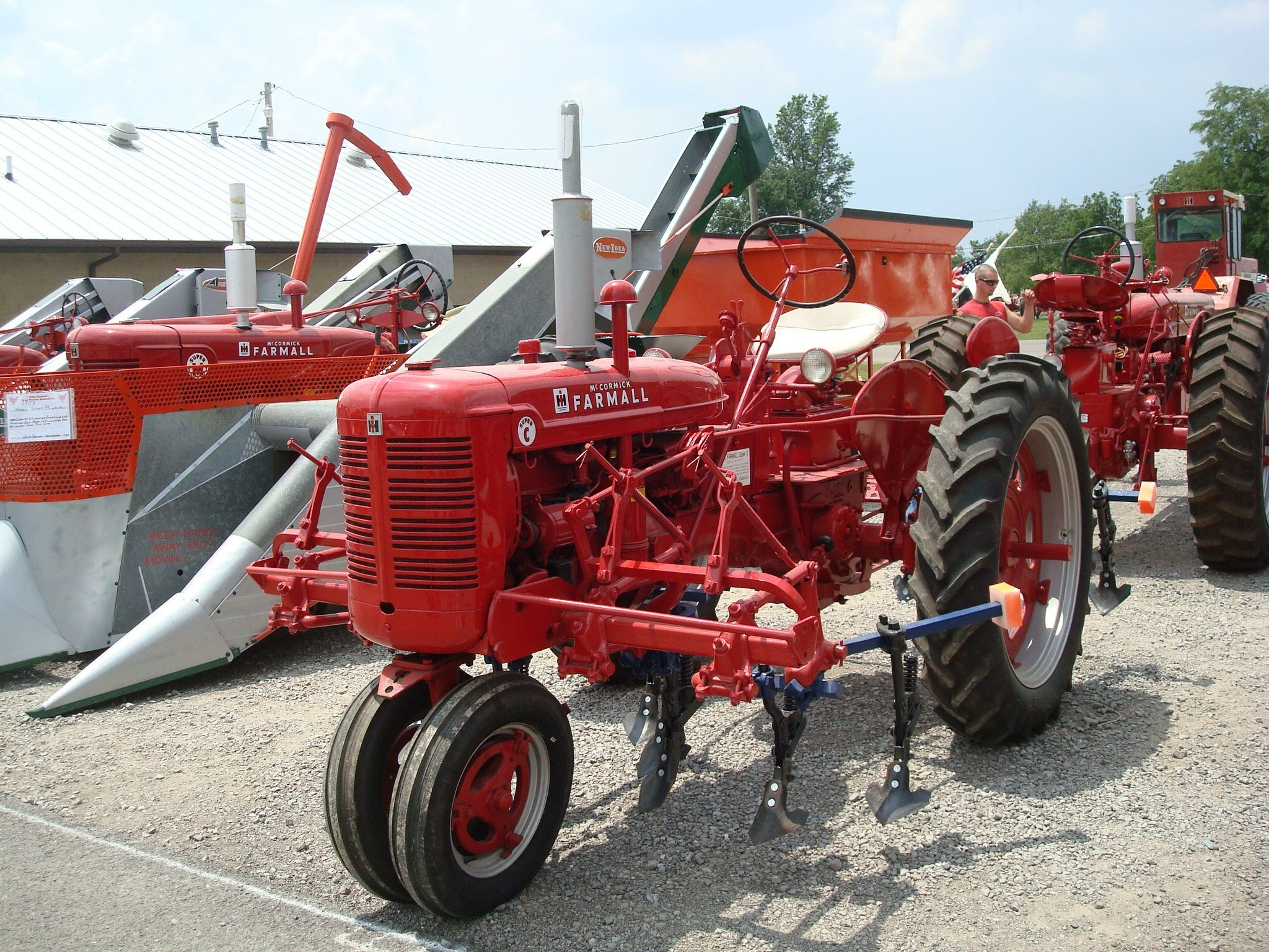 Farmall Super C with Cultivators | Red Power Round Up 2013