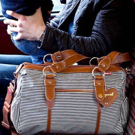 Buy Babymel Ella Changing Bag, Navy Stripe Online at johnlewis.com