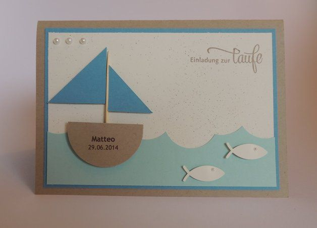 Schön Einladung Zur Taufe | Schiff | Fisch Mit NAMEN Mehr