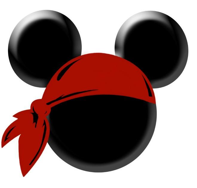 Pirate Mickey Head Red No Dots - Download - 4shared