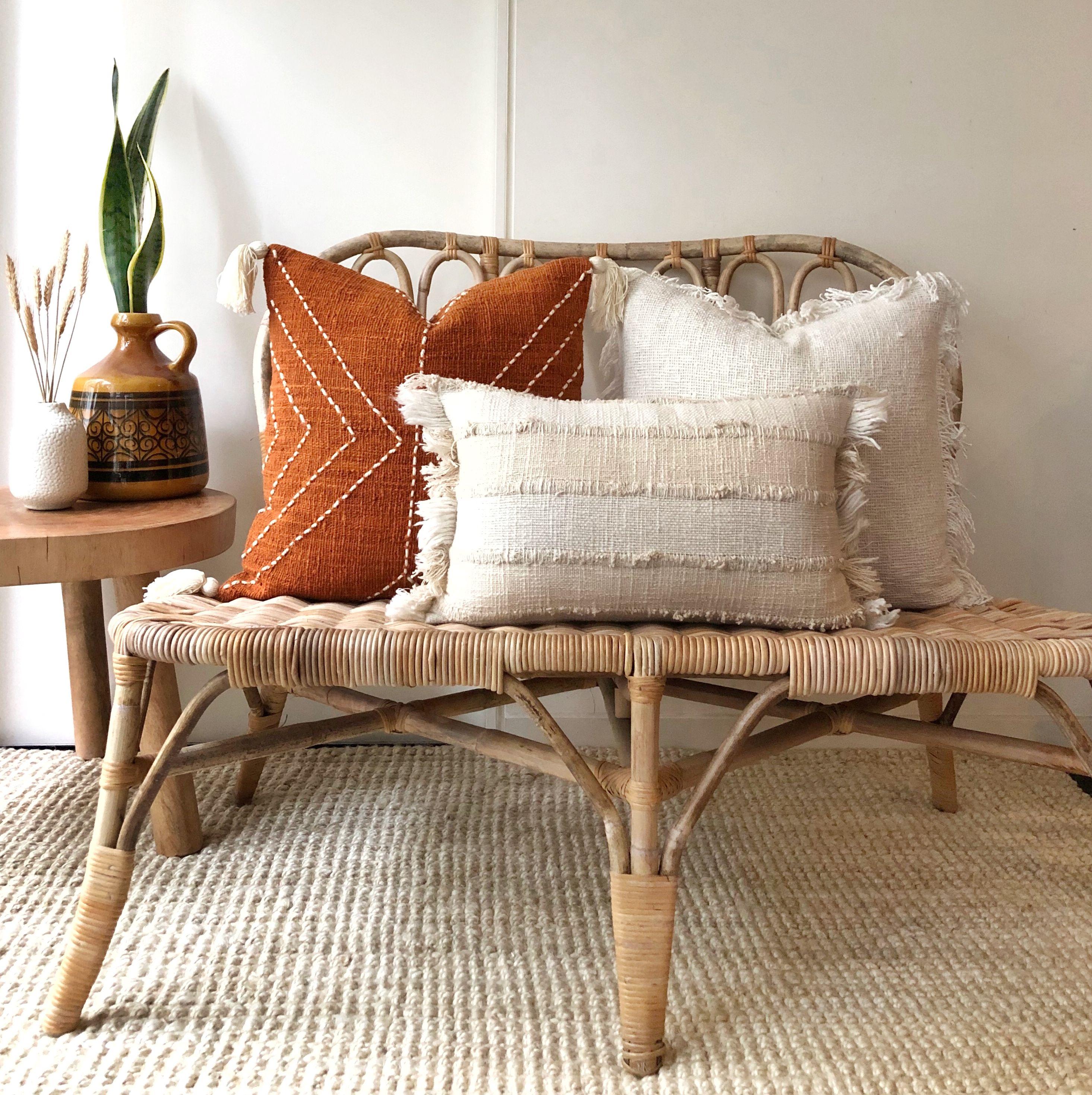 Burnt orange and boho cushion covers | Aztec House | Australia