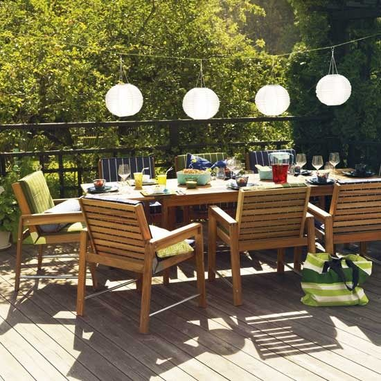 Perfect and simple outdoor dining set My Dream Home Pinterest