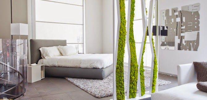 pflanzen moos raumteiler ideen | interior design corridor ... - Raumteiler Ideen