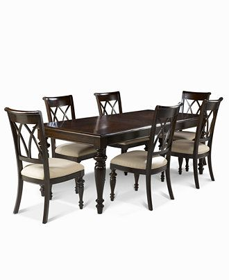 Bradford 7Piece Dining Room Furniture Set Table & 6 Side Chairs Stunning Macys Dining Room Chairs Design Inspiration