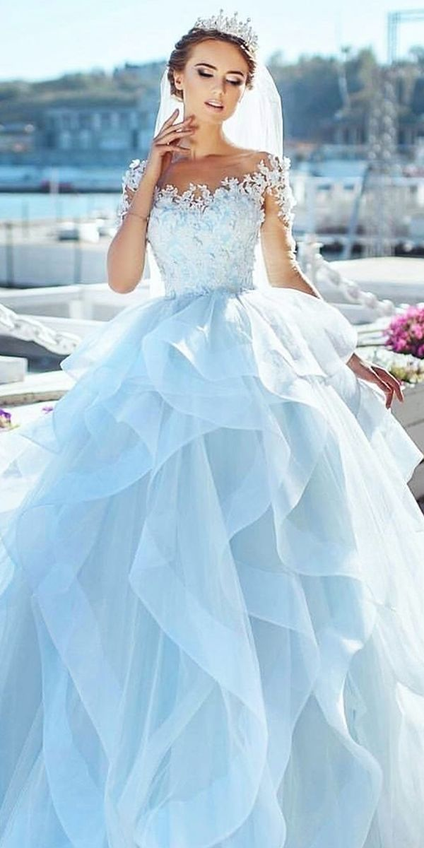 27 best wedding dresses for celebration pinterest for Light blue wedding dress meaning