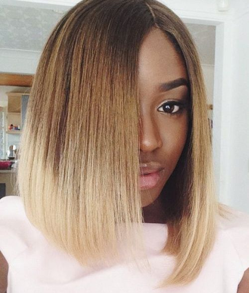 60 Showiest Bob Haircuts For Black Women Bob Hairstyles Hair Styles Long Bob Hairstyles