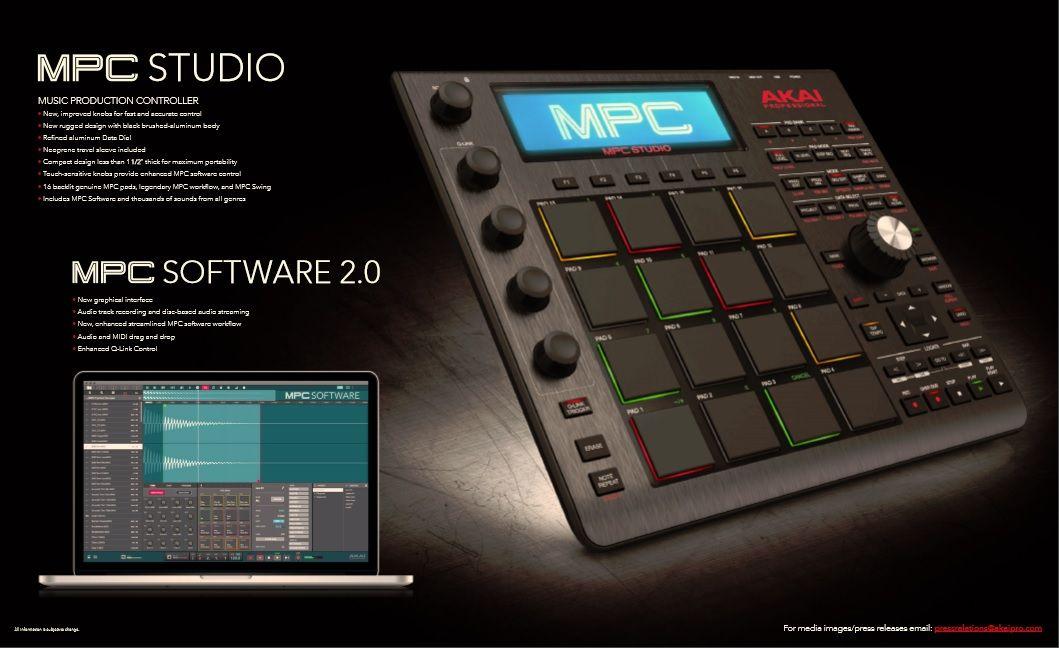 The New Akai Mpc Studio Music Engineers Dream Music Music Tech