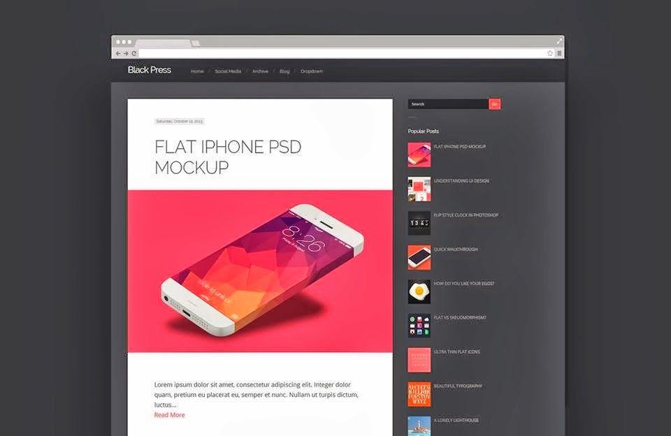Blackpress responsive blogger template | Web Design | Pinterest