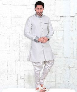 2a18036a0fe5 Buy Off White Banglori Silk Readymade Indo Western Suit 72027 online at  lowest price from our mens wear collection at Indianclothstore.com.