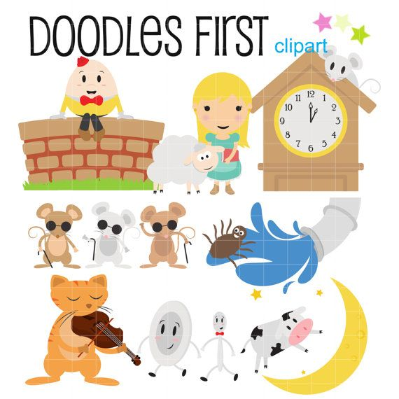Nursery Rhyme Characters Digital Clip Art For By Doodlesfirst