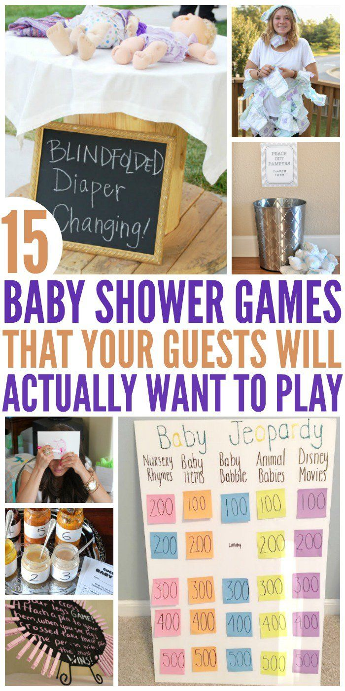 15 Hilariously Fun Baby Shower Games Party Animal Pinterest
