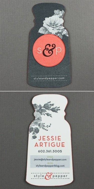 Style pepper business card julie vinh brand identity design style pepper business card julie vinh die cut reheart Gallery