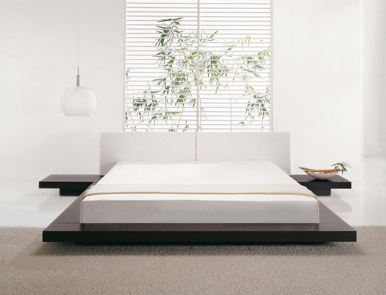 Details zu Bett mit Lattenrost, Futonbett, Doppelbett, Ehebett ...