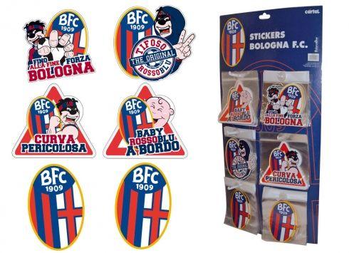 Stickers Balanzone in 6 varianti  Stickers adesivi Balanzone con 6 disegni venduto in display da 14 pezzi.