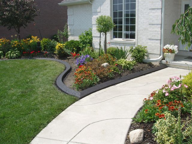 Front Yard Border Designs: Beautiful Flower Bed Edging Ideas For Floweriest Garden: A