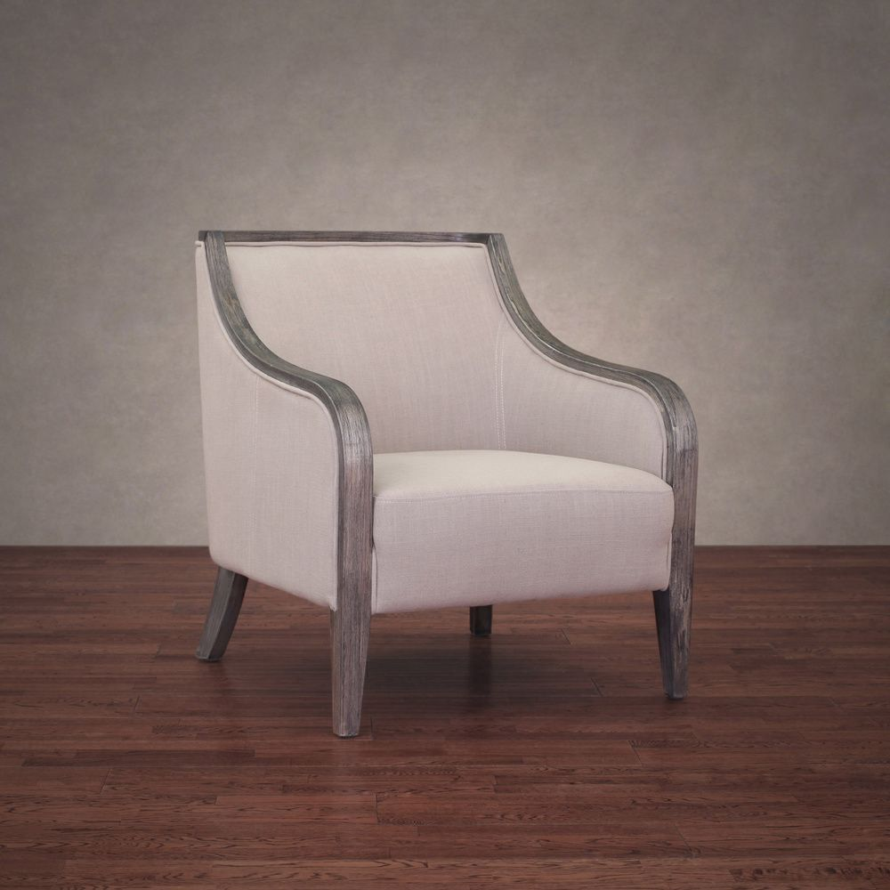 Beaumont Taupe Linen Armchair - Overstock™ Shopping - Great Deals on TBD Living Room Chairs $260.99