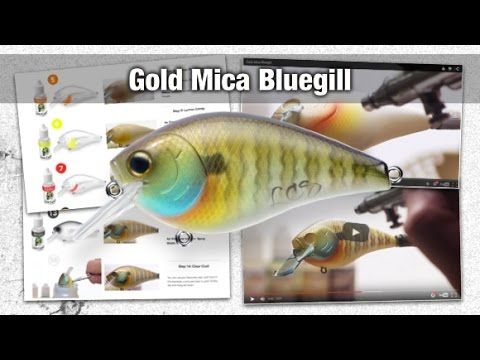 Custom painted 2.5 Square bill crank bait