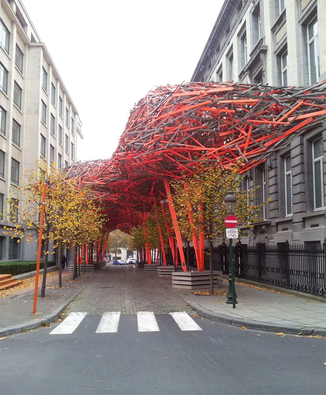 the sequence  a urban sculpture by arne quinze 2008 brussels belgium