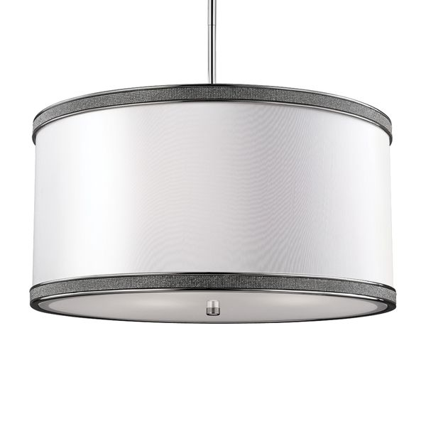 Feiss pave 3 light polished nickel crystal inlay drum pendant feiss pave polished nickel crystal inlay drum pendant overstock shopping great deals on murray feiss chandeliers pendants aloadofball Images