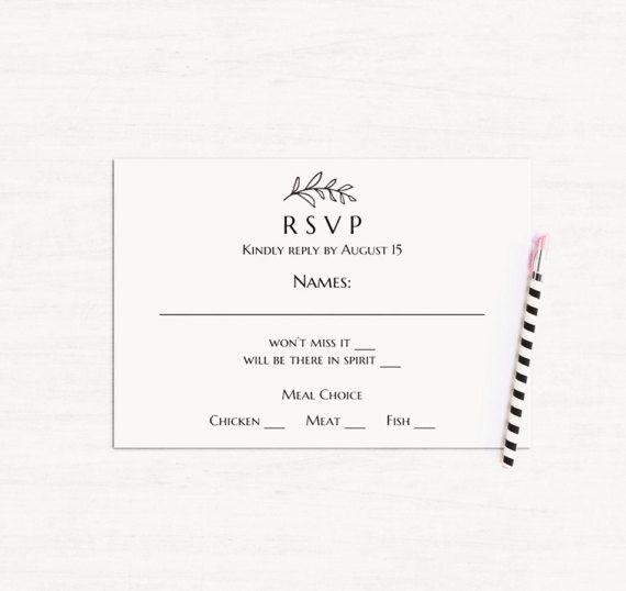printable rsvp cards