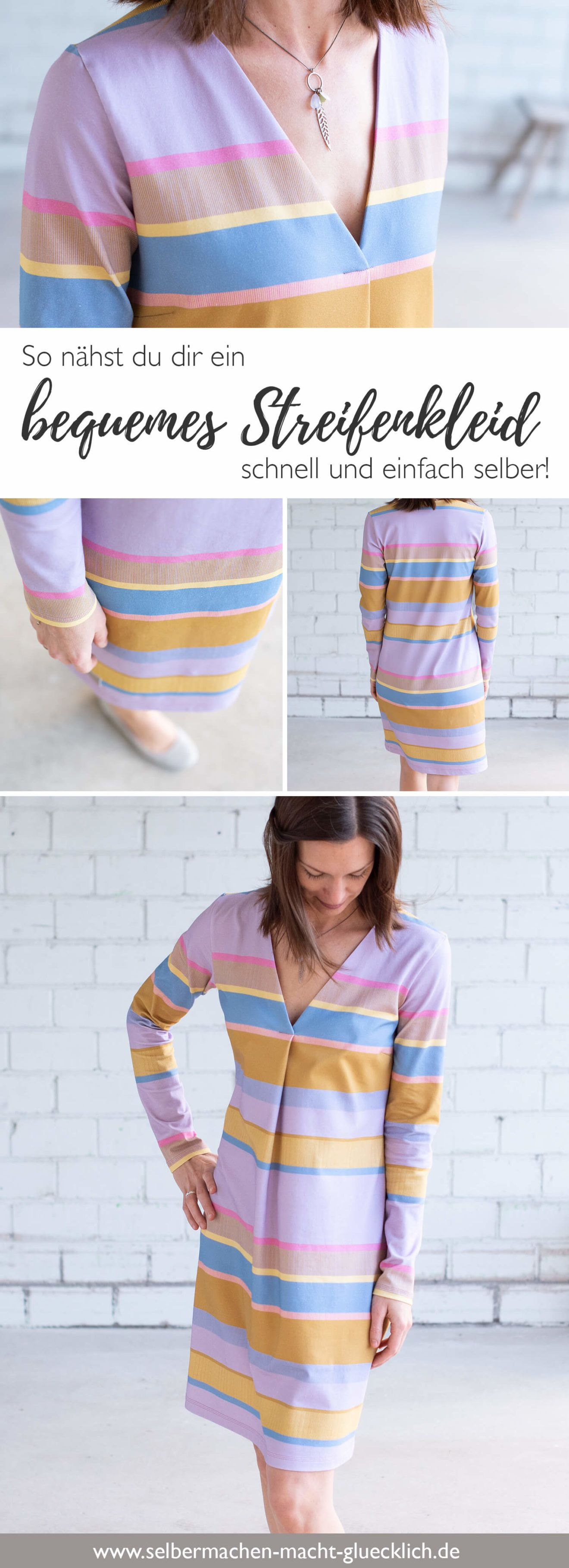 Ein bequemes Streifenkleid einfach selber nähen!