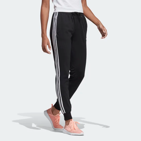 Adidas Essentials 3 Stripes Pants Black Adidas Us In 2020 Striped Pants Women Sporty Pants Pants For Women