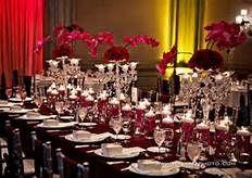 Burgundy And Cream Wedding Reception