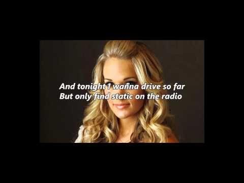 Heartbeat By Carrie Underwood Lyrics On Screen Carrie Underwood Shade Music Lyrics