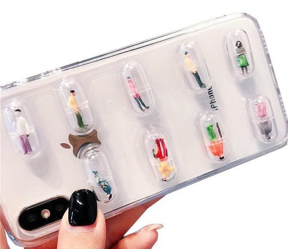 arrives 2c9cc 55a3a 3D Pills Phone Case For iPhone X 6 6S 7 8 Plus, Drug Phone Cover ...