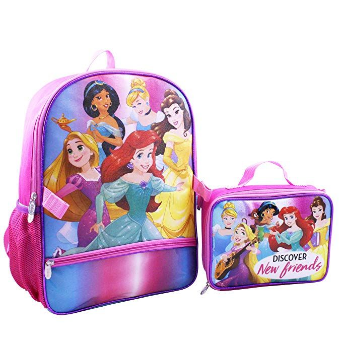 6fab2a2e40e Disney Princess Backpack With Lunch Kit Backpack.  Backpack  Disney   DisneyPrincess