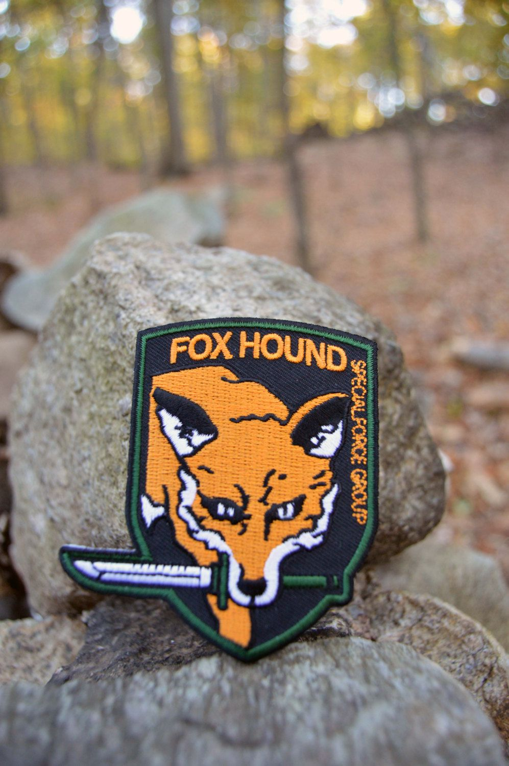 Fox Foxhound MGS Metal Gear Solid Cosplay Airsoft PVC Patch