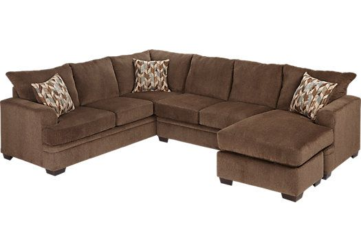 Brenton Court 2 Pc Cocoa Sectional X Chaise Find Affordable Living Room Sets For Your Home That Will Complement The Rest Of Furniture