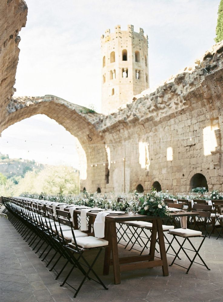 A Medieval Castle Sets the Stage for the Most Stunning Wedding