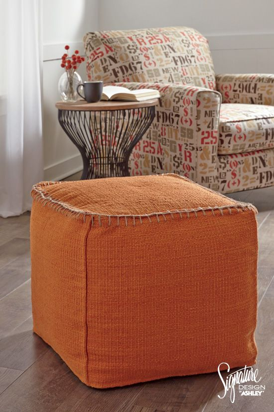 Ashleyfurniture Poufs Go Bold And Finish Your Style With A Pop