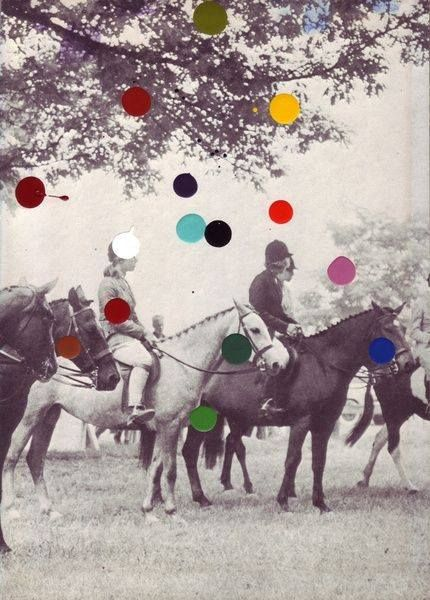 Photo - peinture. John Baldessari. À cheval. #tacaclop #aupas #autrot #augalop http://www.baldessari.org/