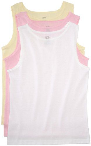 Fruit of the Loom Toddler Girls 3-Pack Assorted Cotton Tank