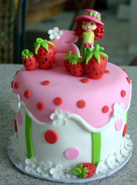 Astounding Strawberry Shortcake Individual Cake Con Imagenes Torta Personalised Birthday Cards Veneteletsinfo