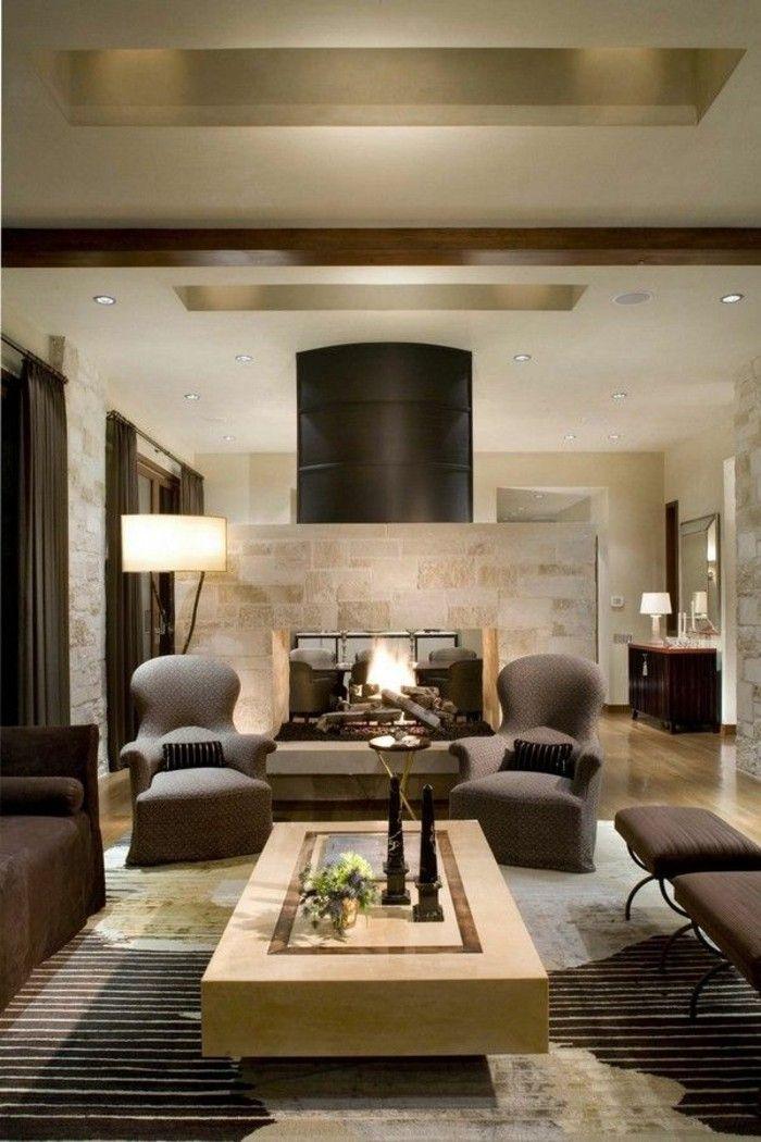 modern kamin wohnzimmer braun beige | wohnideen | pinterest | room - Wohnzimmer Bilder Braun Beige