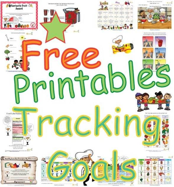 print free healthy goals tracking sheets for kids print goal setting sheets to encourage healthy - Free Printing Sheets