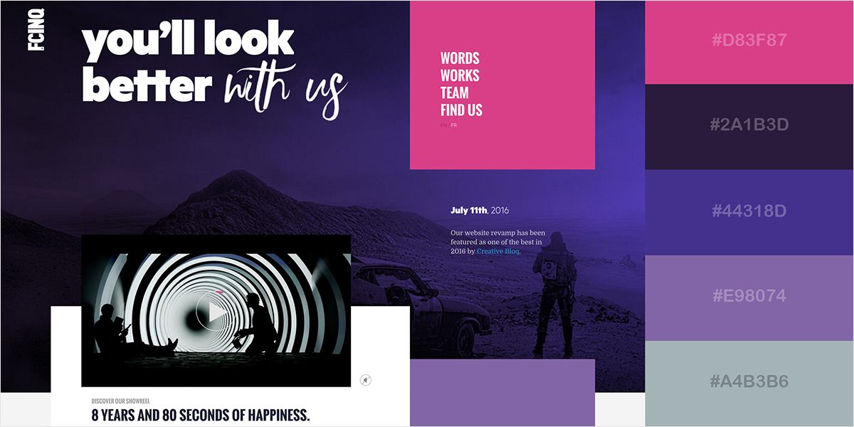50 Gorgeous Color Schemes From Award Winning Websites Award Winning Websites Web Design Color Color Schemes