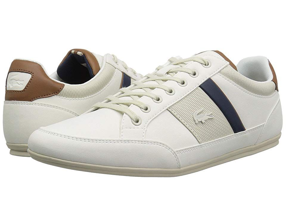 Lacoste Chaymon 318 2 Men S Shoes Off White Brown Lacoste Sneakers Shoes