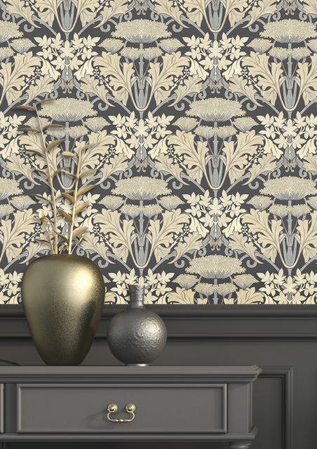 Craftsman Wallpapers From The British Arts Crafts Movement In 2020 Poppy Wallpaper Craftsman Wallpaper Wallpaper