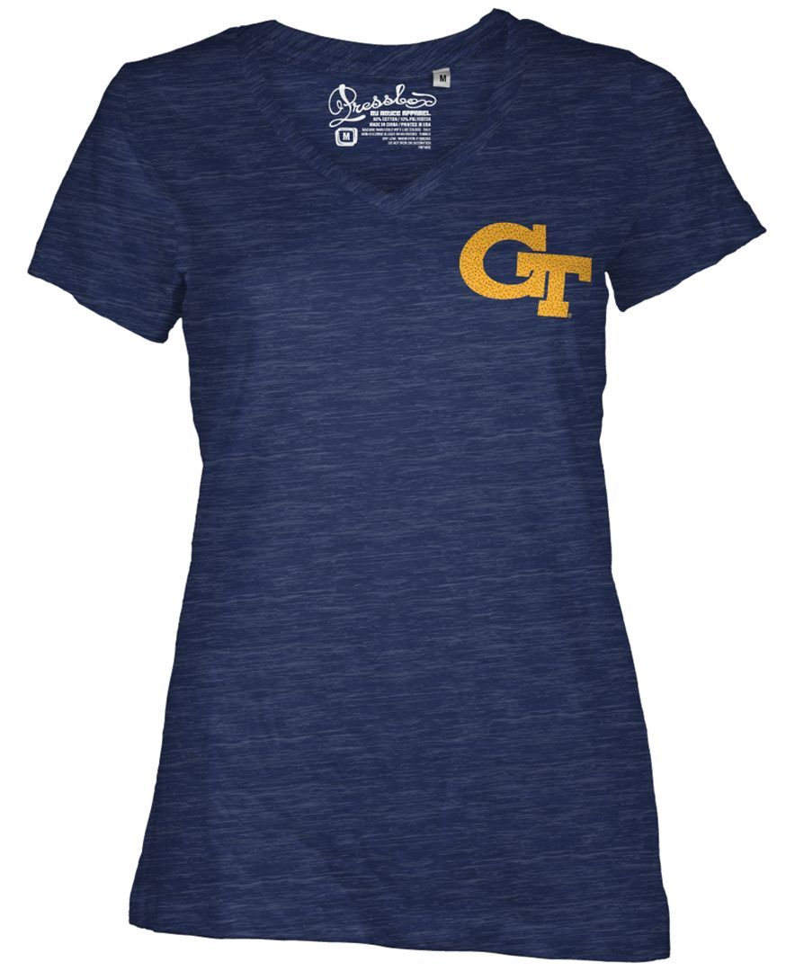 9366a747a Royce Apparel Inc Women s Georgia Tech Yellow Jackets Logo T-Shirt ...