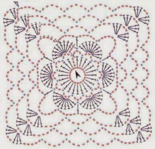 crochelinhasagulhas: Quadradinhos em crochê | Bebe | Pinterest ...