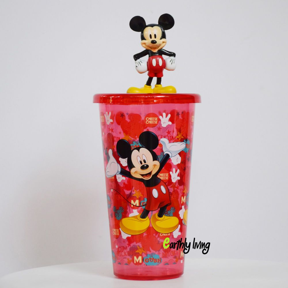 Licensed Disney Mickey Mouse Water Bottle Canteen Flask Glass