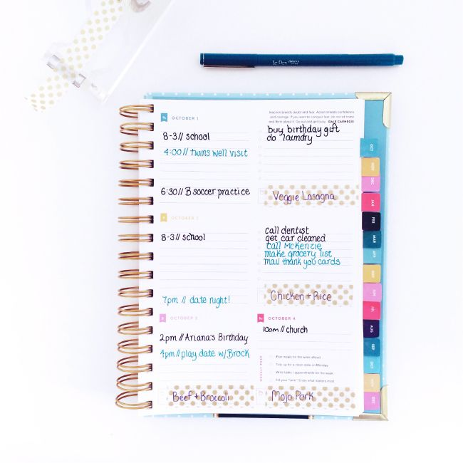 INSIDE MY SIMPLIFIED PLANNER: QUICK TIP