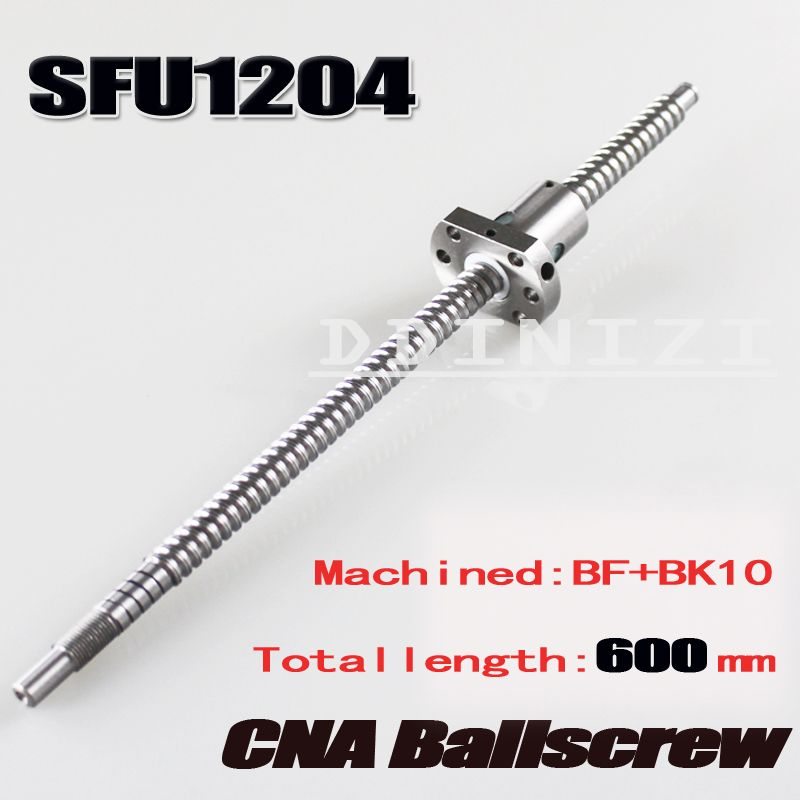 SFU1204 L300mm rolled ball screw C7 with 1204 Nut end machined for BK//BF10