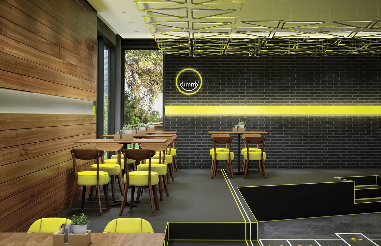 Modern Fast Food Restaurant Interior Design Comelite